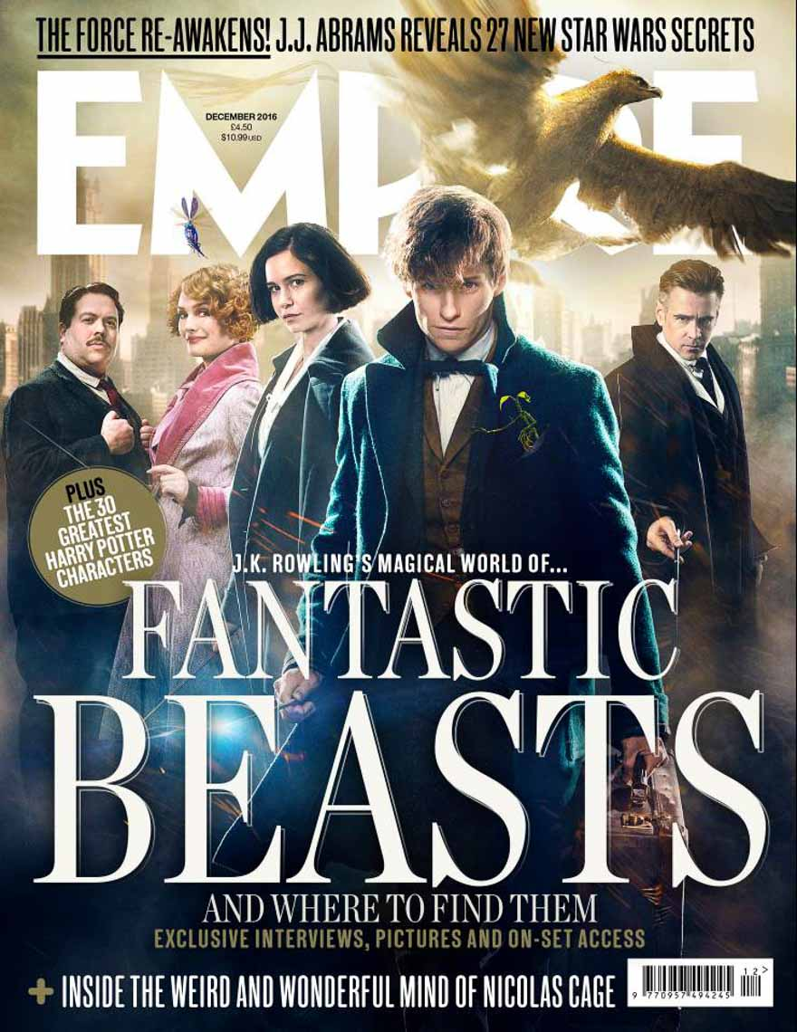 empire fantastic beasts newsstand cover eddie redmayne